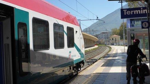 Easy to Reach by Train - Rosamarina Lake - Sicily Cycling