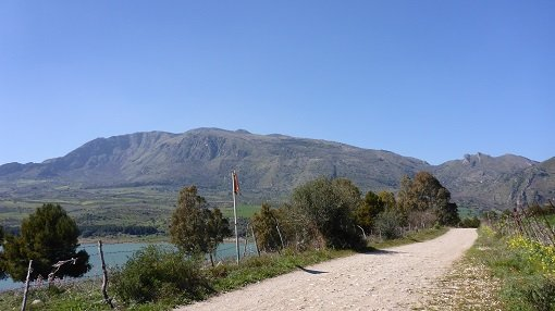 Dirt Track Around Rosamarina Lake - Sicily Cycling