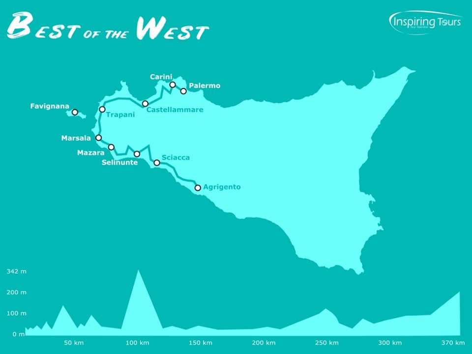Best of the West cycling tour map