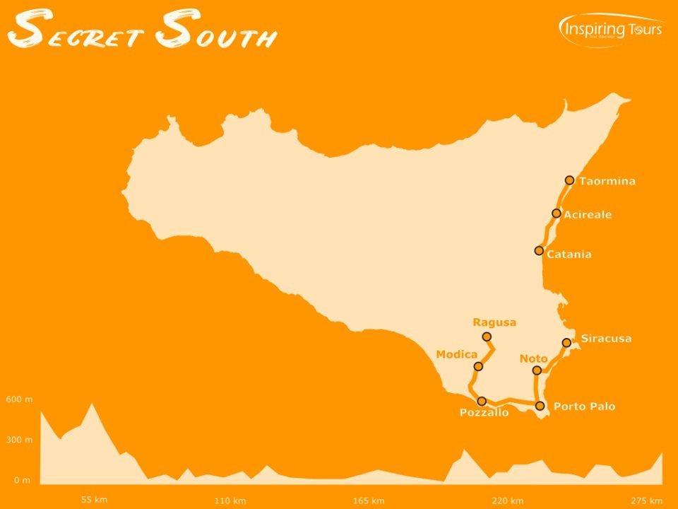Secret South biking tour map